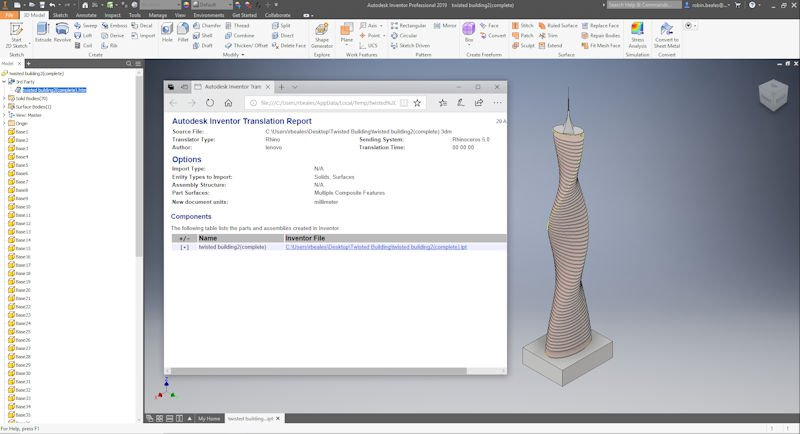 Rhino or Catia to Autodesk Revit using Inventor – Man and