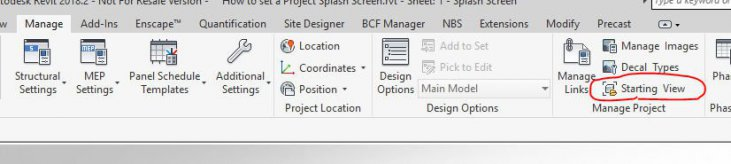 How to Set a Project Splash Screen in Revit – Man and Machine