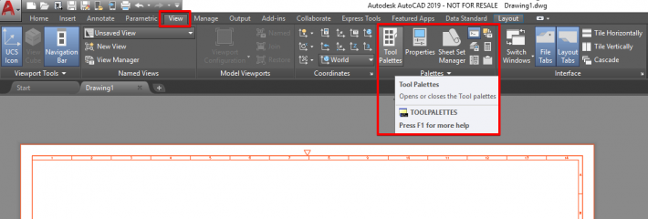 How to Utilise Tool Palettes for Inserting AutoCAD Blocks – Man and