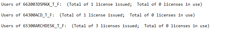 LMTools License Enquiry License Details
