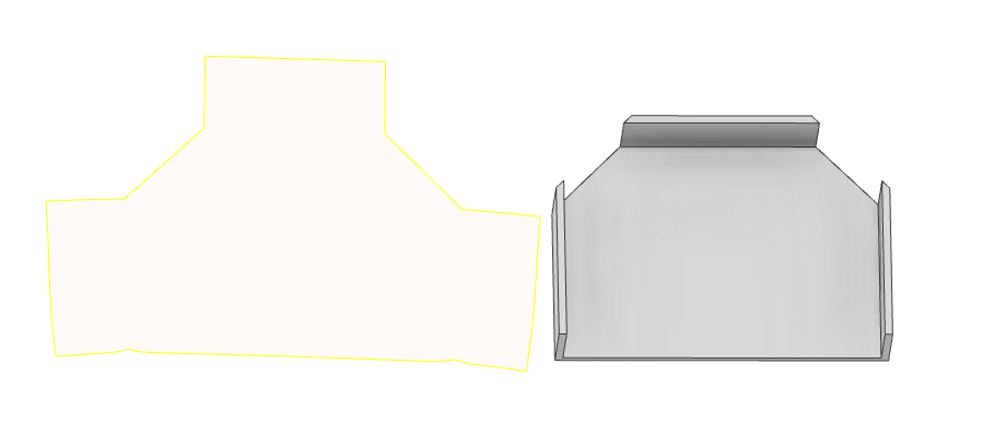 Unwrap Tool's Flat Surface Profile