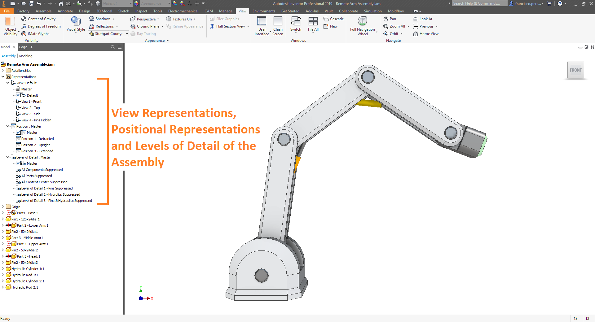 View Representations, Positional Representations and Levels