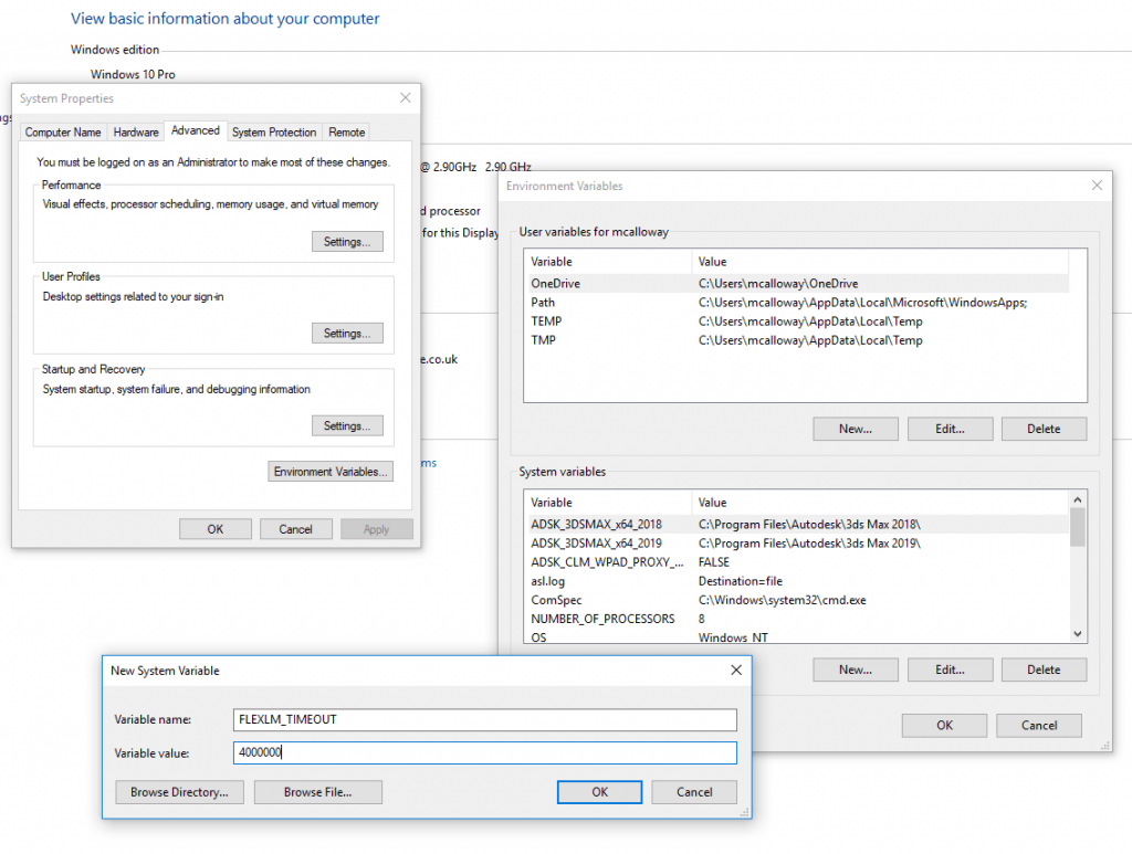 Adding a System Variable to Increase Timeout