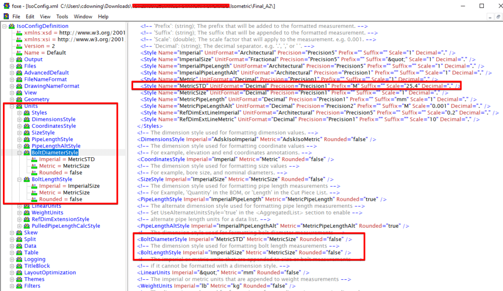 IsoConfig XML File