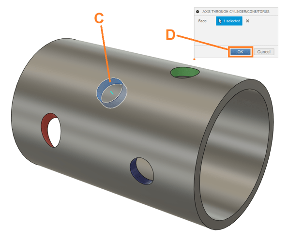Create Axis for Cutting Holes