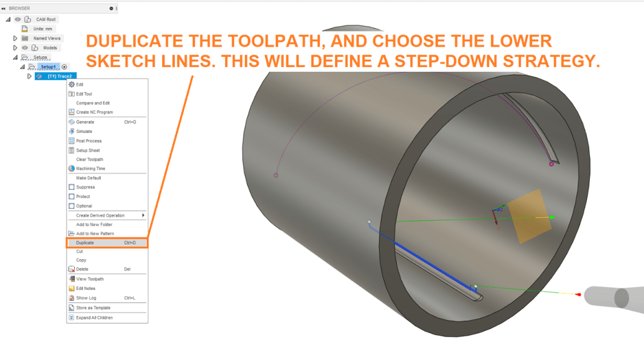 Duplicate Toolpath