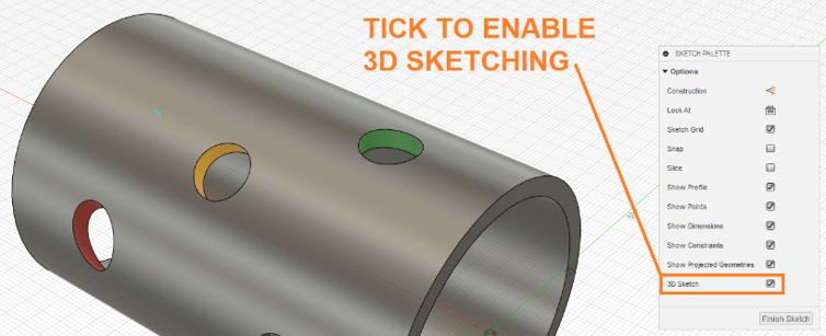 Enable 3D Sketch