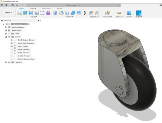 Fusion 360 Wheel Design