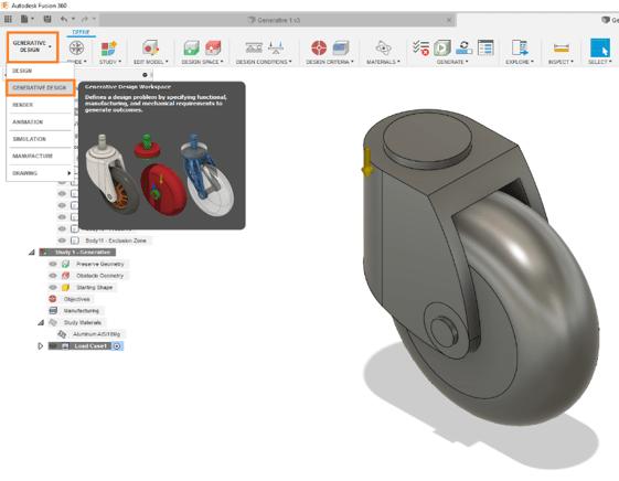 Fusion 360 Generative Design Environment