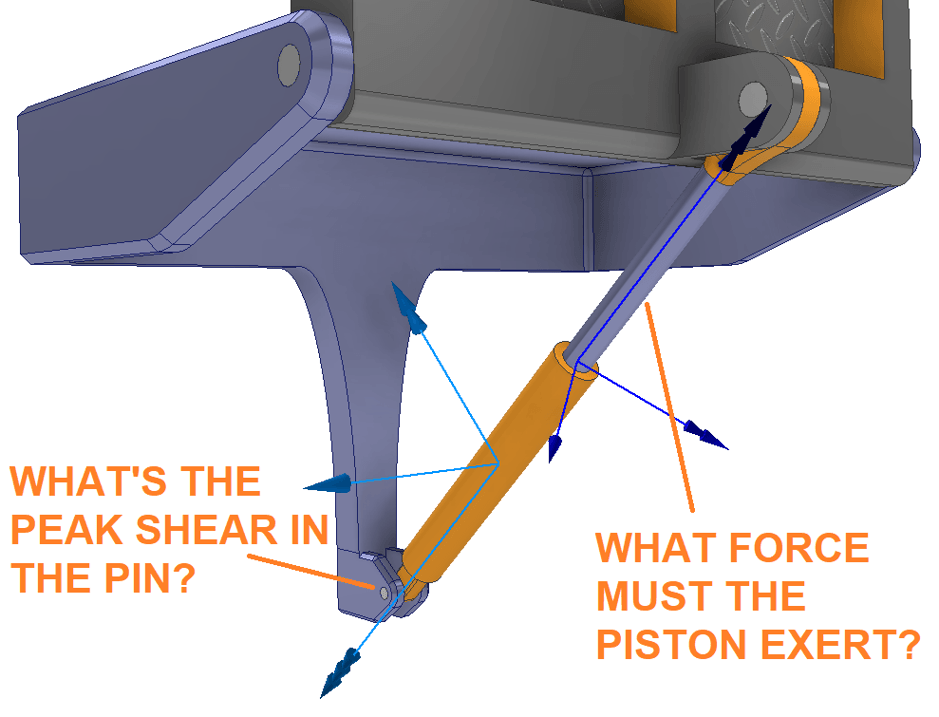 Inventor Hinge Pin and Piston