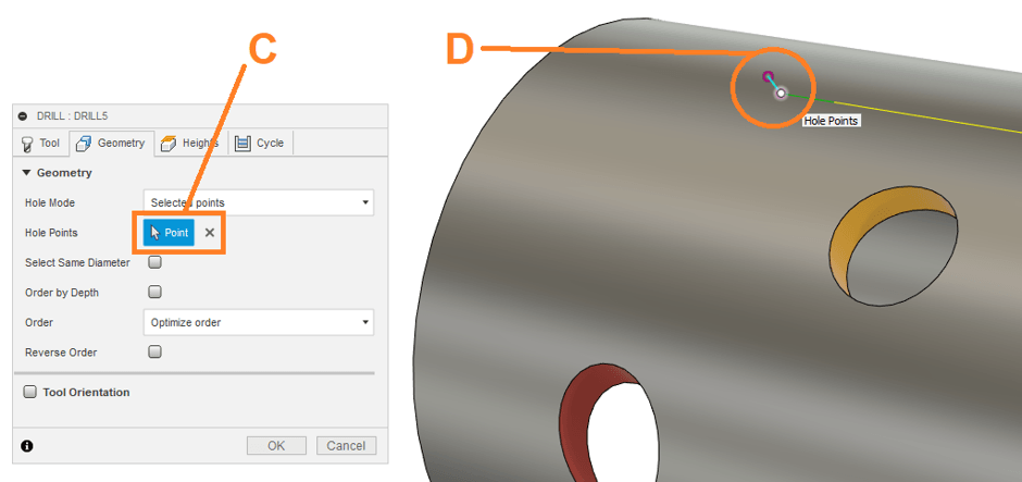 Cutting Hole Points
