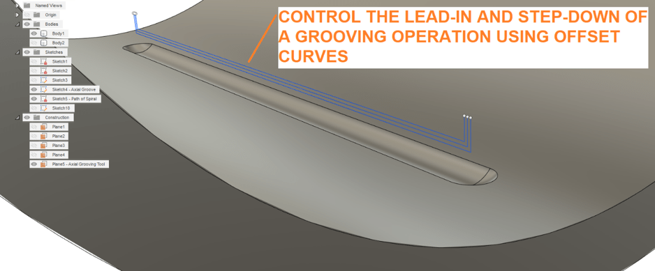 Grooves Offset Curves