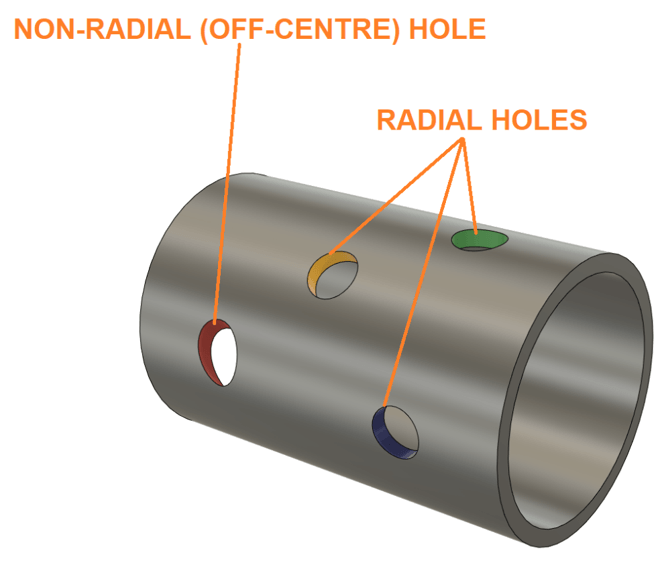 Fusion 360 Pipe Model with Holes