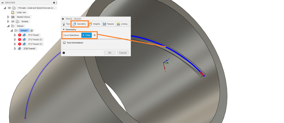 Spiral Cutting Toolpath