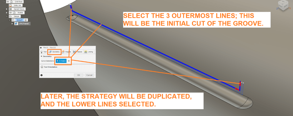 Define Grooves Tracing Path