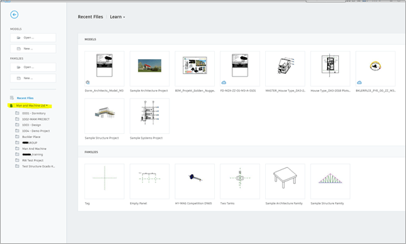Showing where to find access to BIM 360 projects you have permissions to